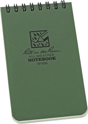 Rite in the Rain 3 x 5 Top Spiral Notebook