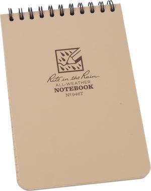 Rite in the Rain 4 x 6 Top Spiral Notebook Tan