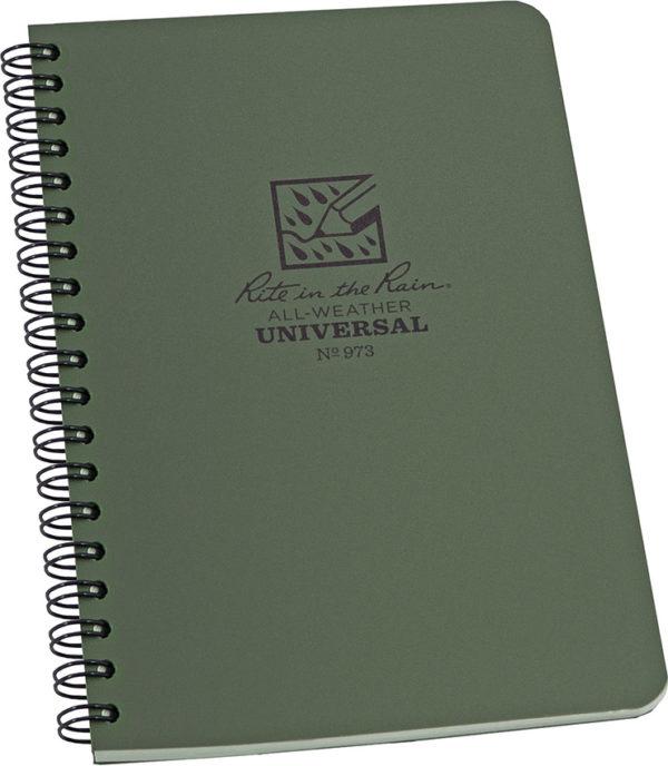 Rite in the Rain Side Spiral Notebook Green
