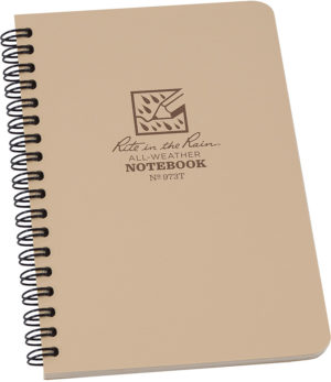 Rite in the Rain Side Spiral Notebook Tan