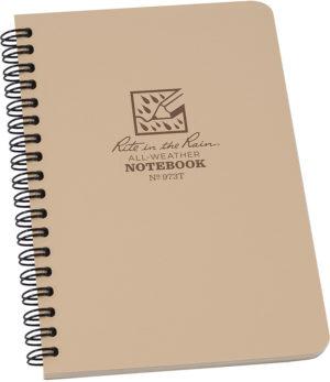 Rite in the Rain Side Spiral Notebook Tan