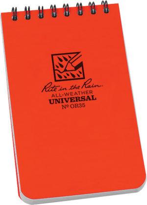 Rite in the Rain Top Spiral Notebook Orange