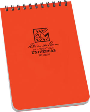 Rite in the Rain Top Spiral Notebook Orange