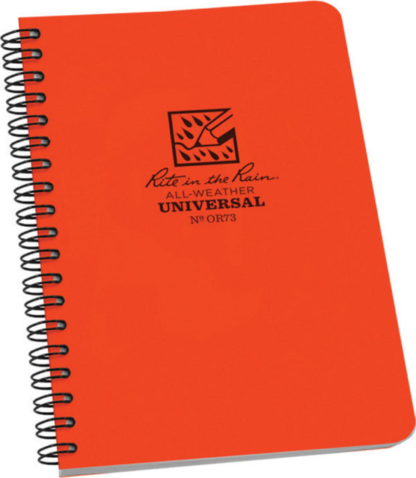 Rite in the Rain Side Spiral Notebook Orange
