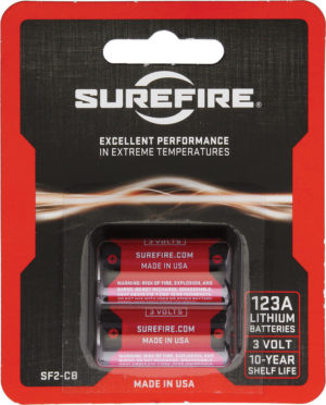 SureFire 123A Batteries Pack of 2