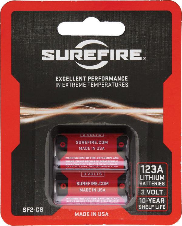 SureFire 123A Batteries Pack of 2