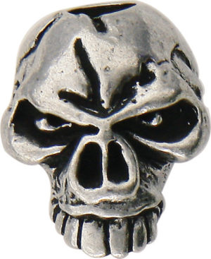 Schmuckatelli Co Emerson Skull Bead Pewter