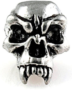 Schmuckatelli Co Fang Skull Bead Pewter
