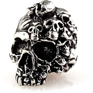 Schmuckatelli Co Mind Skull Bead Pewter