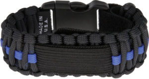 Survco Tactical Para Cord Watch Band Blue Line