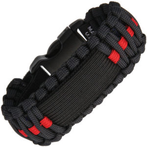Survco Tactical Para Cord Watch Band Red Line