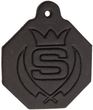 Svord Black Leather Tag- Measures 1