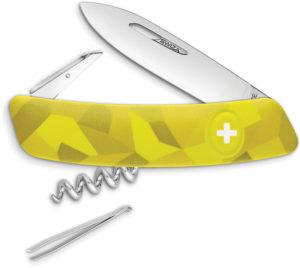 Swiza C01 Button Lock Yellow Camo (2.75″)