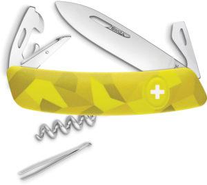 Swiza C03 Button Lock Yellow Camo (2.75″)