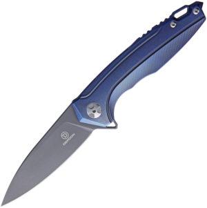 Defcon Framelock Blue (3.75″)