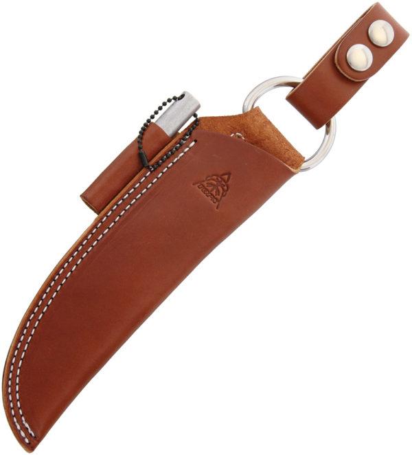 TOPS Bushcraft Sheath Brown Leather