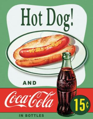 Tin Signs Hot Dog And Coke