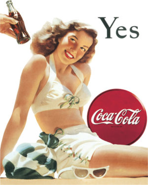 Tin Signs Coke Yes White Bathing Suit