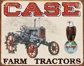 Tin Signs Case Tractor – CC High
