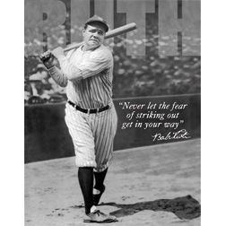 Tin Signs Babe Ruth No Fear