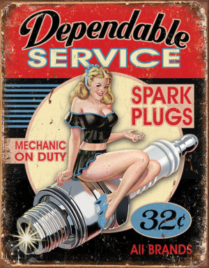 Tin Signs Dependable Service Sign