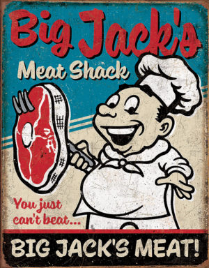 Tin Signs Big Jacks Meats Sign