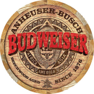 Tin Signs Budweiser Barrel End