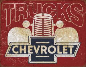 Tin Signs Chevy Trucks