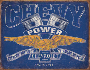 Tin Signs Chevy Power