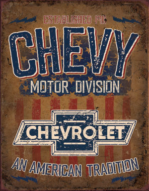Tin Signs Chevy American Tradition