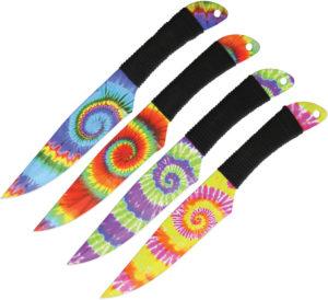 Wild Boar Tie Dye Throwing Knives (4.75″)