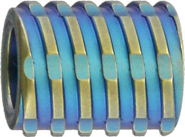 We Knife Co Ltd Titanium Bead Blue