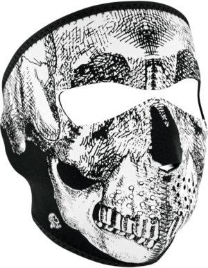 Zan Headgear Full Face Mask BW Skull