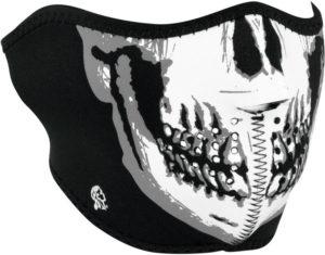 Zan Headgear Half Face Mask BW Skull