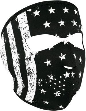 Zan Headgear Full Face Mask BW Flag
