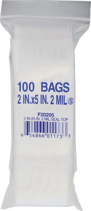 Recloseable Bags Bags 2 inch  X  5 inch Bags