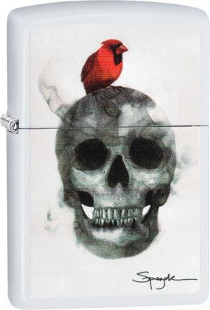 Zippo Spazuk Cardinal on Skull