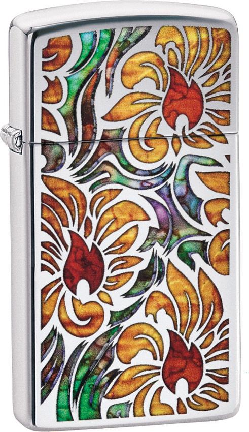 Zippo Fusion Floral Slim