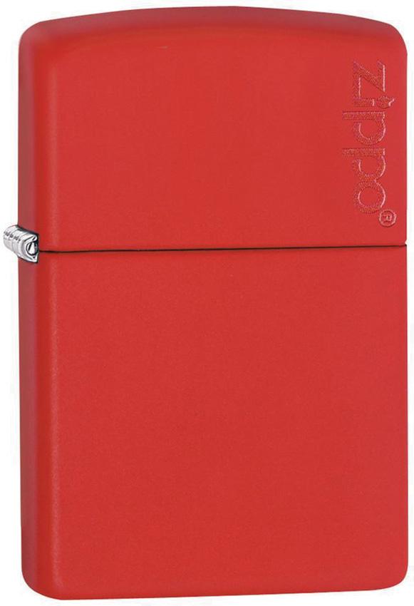 Zippo Logo Red Matte