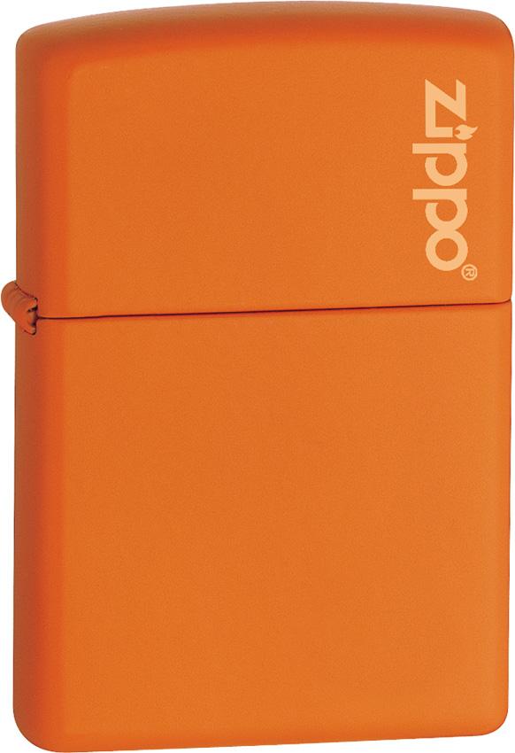 Zippo Orange Matte with Logo