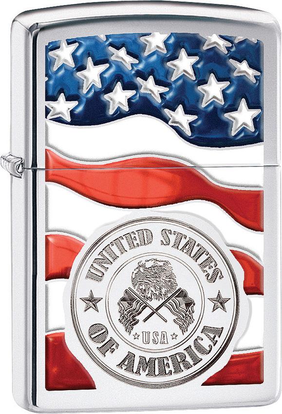 Zippo American Stamp on Flag