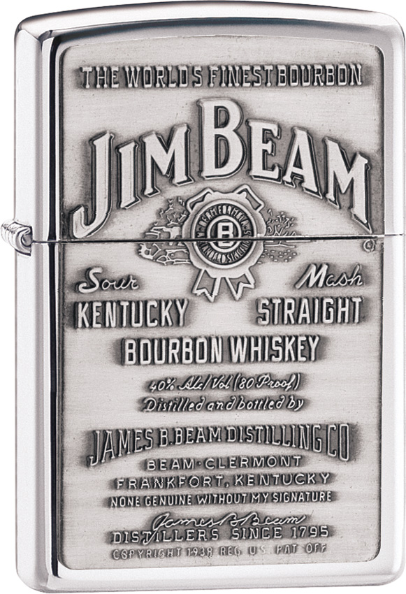Zippo Jim Beam Pewter Emblem