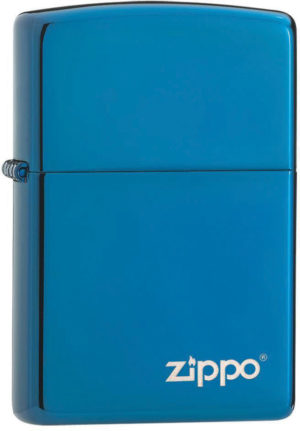 Zippo High Polish Blue Logo
