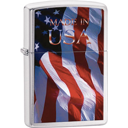 Zippo Made In The USA Flag