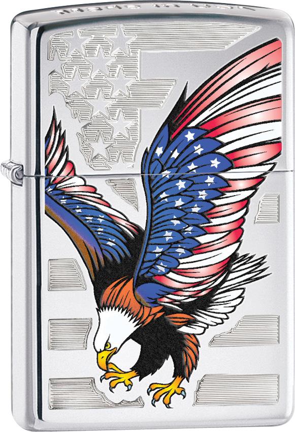 Zippo Eagle Flag