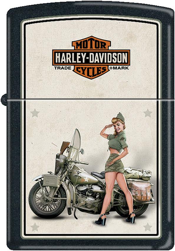 Zippo Harley US Army Pinup