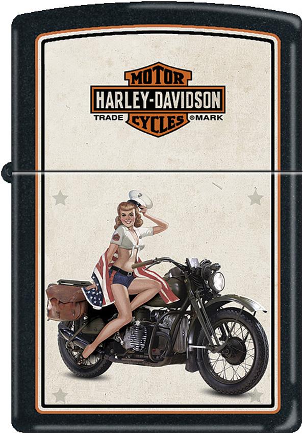 Zippo Harley US Marine Pinup