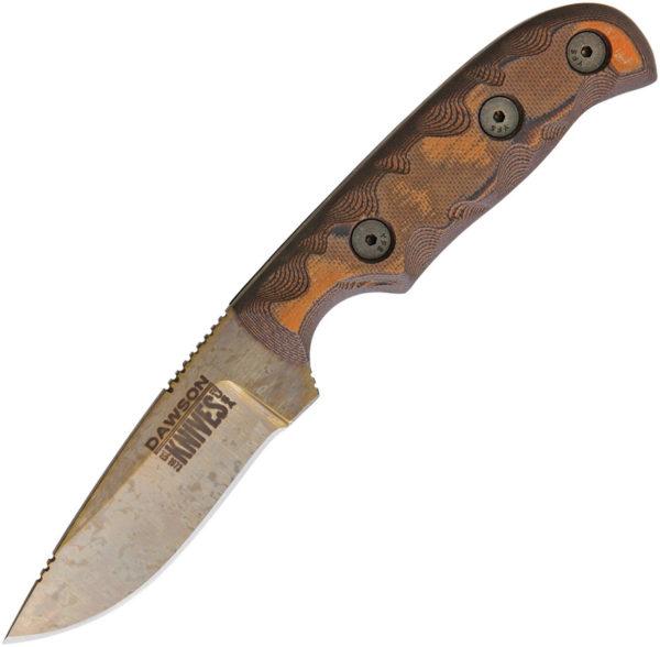 Dawson Knives Deep Notch Fixed Blade Orange (3.25″)