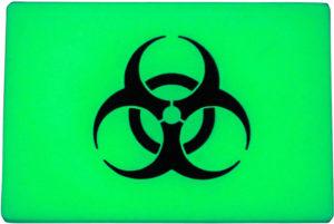 TEC Accessories BEACON Patch Green Biohazard