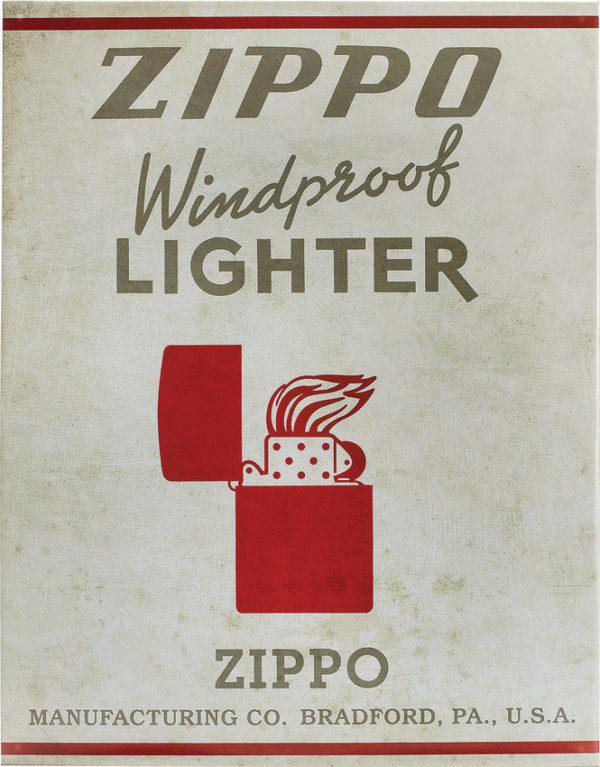 Zippo Tin Sign